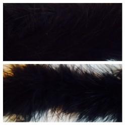 Черный цвет. Боа тесьма из пуха марабу 6-8 см