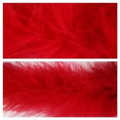 Красный цвет. Боа тесьма из пуха марабу 6-8 см