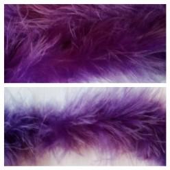 Фиолетовый цвет. Боа тесьма из пуха марабу 6-8 см