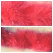 Арбуз цвет. Боа тесьма из пуха марабу 6-8 см