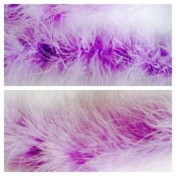 Сиреневый цвет. Боа тесьма из пуха марабу 6-8 см