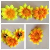3115. Желтый -оранжевый цвет. Ромашка 4 см