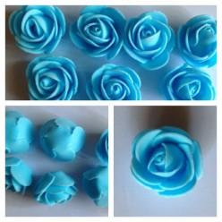 1919. Голубой цвет. Цветные головки роз 3 см
