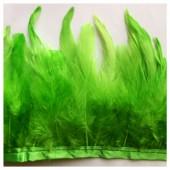 1 м. Зеленый цвет. Тесьма. Перья петуха на ленте 6-11 см.