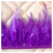 1 м. Фиолетовый цвет. Тесьма из перьев 6-11 см