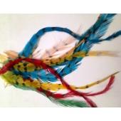 10 шт. Микс цвет. Перья американского петуха 10-15 см 2-х цветное