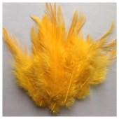 20 шт. Желто-оранжевый цвет. Перья петуха 5-10 см. Цветные перья