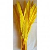 1 шт. Желтый цвет. Гусиное перо 30-40 см