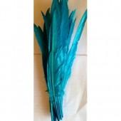 1 шт. Голубой цвет. Гусиное перо 30-40 см