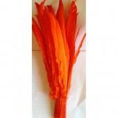 1 шт. Оранжевый цвет. Гусиное перо 30-40 см