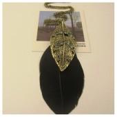 09101. Черный цвет. подвеска с перьями