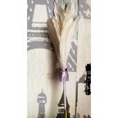 Х-1. Белый цвет. Ручка с перьями птиц