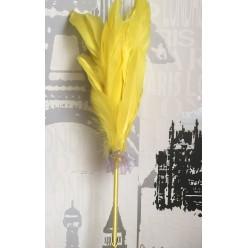 Х-2. Желтый цвет. Ручка с перьями птиц