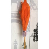 Х-4. Оранжевый цвет. Ручка с перьями птиц