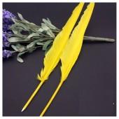 Ш-3. 1 шт. Желтый цвет.  Гусиное перо ручка