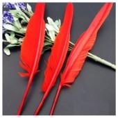 Ш-4. 1 шт. Красный цвет.  Гусиное перо ручка
