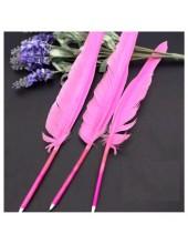 Ш-8. 1 шт Розовый цвет.. Гусиное перо ручка