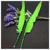 Ш-6. 1 шт. Зеленый цвет.  Гусиное перо ручка