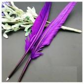 Ш-10. 1 шт. Фиолетовый цвет. Гусиное перо ручка