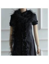 2 м. Черный цвет. Шарф из перьев страуса. 3 нити