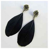 83. Черный цвет. Серьги из перьев птиц