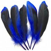 20 шт. Синий цвет. перья цветной утки 10-15 см