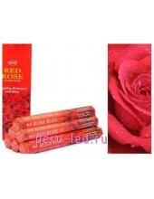 RED ROSE. НЕМ Ароматические палочки 6 граней 20 гр