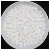 № 4. 50 гр. Белый цвет. Жемчужные бусинки клеевые