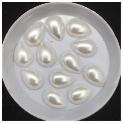 Белый цвет. Капелька жемчужные 13 х 7 мм. Клеевые 50 гр
