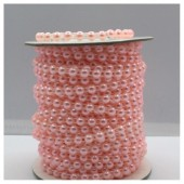 1 м. Розовый цвет. Жемчужины цветные. 0.5 см. З-1