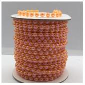 1 м. Оранжевый хамелеон цвет. Жемчужины цветные. 0.5 см. З-4