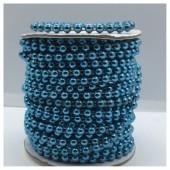 1 м. Синий цвет. Жемчужины цветные. 0.5 см. З-2