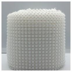 1 м. Белый цвет. Жемчужная лента. Ширина 11 см. № 6