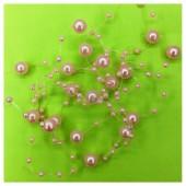 1.3 м. Розовый цвет. Жемчужная нить. Ж-3