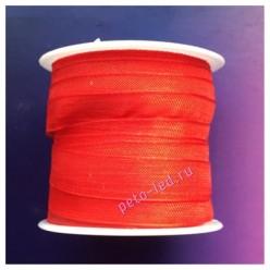 2 м. Красный цвет. Лента капроновая цветная 1 см