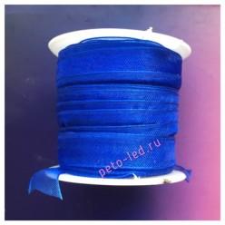 2 м. Синий цвет. Лента капроновая цветная 1 см