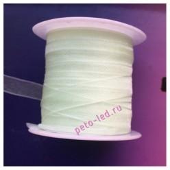 2 м. Бело-салатовый цвет. Лента капроновая цветная 1 см