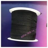 2 м. Черный цвет. Лента капроновая цветная 1 см