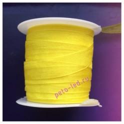 2 м. Желтый цвет. Лента капроновая цветная 1 см