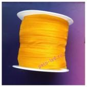 2 м. Оранжевый цвет. Лента капроновая цветная 1 см