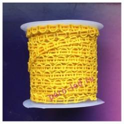 2 м. Желтый цвет. Тесьма ажурная 0.7 см