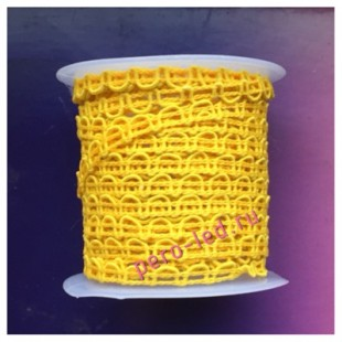 2 м. Желтый цвет. Тесьма ажурная.0.7 см