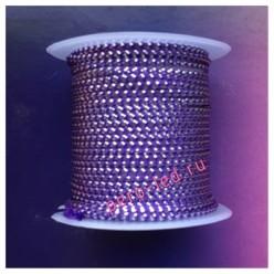 2 м. Фиолетовый с серебром. Тесьма жгут 0.3 см