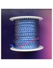 2 м. Синий с серебром. Тесьма жгут 0.3 см