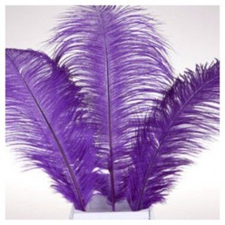 1 шт. Фиолетовый цвет. Перо страуса 30-35 см