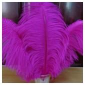 1 шт. Фуксия цвет. Перо страуса 30-35 см