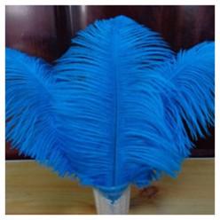 1 шт. Голубой цвет. Перо страуса 30-35 см
