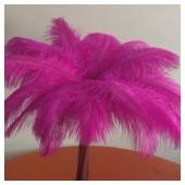 1 шт. Фуксия цвет. Перо страуса 35-40 см