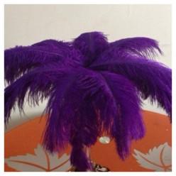 1 шт. Фиолетовый цвет. Перо страуса 35-40 см