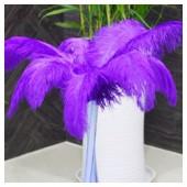 1 шт. Фиолетовый цвет. Перо страуса 40-45 см.